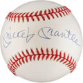 Autographs:Baseballs, Mickey Mantle Signed Baseball (UDA)....