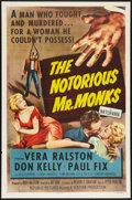 """Movie Posters:Crime, The Notorious Mr. Monks (Republic, 1958). One Sheet (27"""" X 41"""").Crime.. ..."""