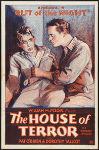 "The House of Terror (William Pizor, 1928). One Sheet (27"" X 41"") Episode 4 -- ""Out of the Night."" Se..."
