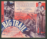 """The Big Trail (Fox, 1930). Herald (5.5"""" X 6.75,"""" Folded Out). Western"""