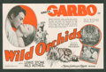 "Movie Posters:Romance, Wild Orchids (MGM, 1929). Herald (5.75"" X 8.75"" Folded Out). Romance.. ..."