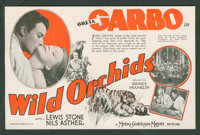 "Wild Orchids (MGM, 1929). Herald (5.75"" X 8.75"" Folded Out). Romance"
