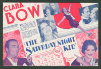 "The Saturday Night Kid (Paramount, 1929). Herald (6"" X 9"" Folded Out). Comedy"