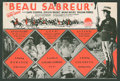 "Movie Posters:Adventure, Beau Sabreur (Paramount, 1928). Herald (6"" X 9"" Folded Out).Adventure.. ..."