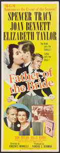 """Movie Posters:Comedy, Father of the Bride (MGM, 1950). Insert (14"""" X 36""""). Comedy.. ..."""