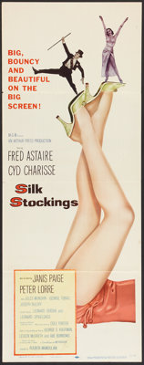 "Silk Stockings (MGM, 1957). Insert (14"" X 36""). Musical"