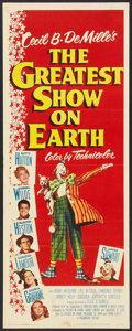 "Movie Posters:Drama, The Greatest Show On Earth (Paramount, 1952). Insert (14"" X 36""). Drama.. ..."