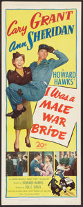 "Movie Posters:Comedy, I Was a Male War Bride (20th Century Fox, 1949). Insert (14"" X36""). Comedy.. ..."