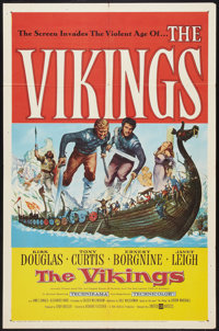 """The Vikings (United Artists, 1958). One Sheet (27"""" X 41""""). Action"""