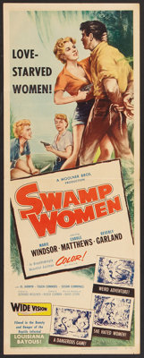 "Swamp Women (Woolner Brothers, 1956). Insert (14"" X 36""). Crime"