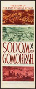 "Movie Posters:Historical Drama, Sodom and Gomorrah (20th Century Fox, 1963). Insert (14"" X 36"").Historical Drama.. ..."