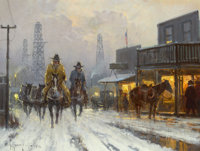 PROPERTY FROM A PRIVATE NORTH TEXAS COLLECTION  G. HARVEY (American, b. 1933) Hot Grub Coming Up