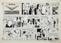Original Comic Art:Comic Strip Art, Russ Heath Walt Disney's Treasury of Classic Tales CondormanSunday Comic Strip Original Art dated 3-8-81 (King Fe...