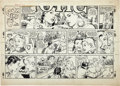 Original Comic Art:Comic Strip Art, George Oleson (as Ed Strops) Ozark Ike Sunday Comic StripOriginal Art dated 3-2-58 (King Features Syndicate, 1958...