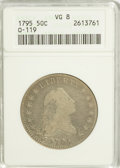 Early Half Dollars, 1795 50C 2 Leaves VG8 ANACS....