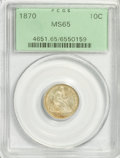 Seated Dimes, 1870 10C MS65 PCGS....