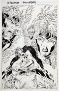 Original Comic Art:Splash Pages, Dan Panosian X-Factor Pin-Up Original Art (undated)....
