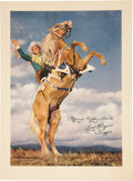 Movie/TV Memorabilia:Autographs and Signed Items, Roy Rogers Signed Poster....