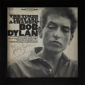 Music Memorabilia:Autographs and Signed Items, Bob Dylan Signed Copy of The Times They Are A-Changin'....
