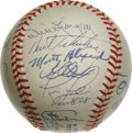 "Autographs:Baseballs, 1979 Pittsburgh Pirates Team Signed Baseball. The famous ""We AreFamily"" World Champs join forces on an Official World Seri..."