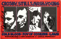 Music Memorabilia:Autographs and Signed Items, Crosby, Stills, Nash & Young Band-Signed Handbill....