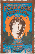 Music Memorabilia:Posters, The Doors Northern California Folk-Rock Festival (Q. R.Productions, 1968). ...