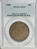 Bust Half Dollars: , 1808 50C AU53 PCGS. PCGS Population (32/149). NGC Census: (33/168).Mintage: 1,368,600. Numismedia Wsl. Price for problem f...