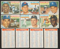 Baseball Cards:Lots, 1956 Topps Baseball Collection (65) With HoFers and Checklists! ...