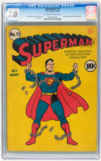 Superman #11 (DC, 1941) CGC FN/VF 7.0 Off-white to white pages