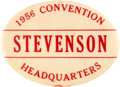 "Political:Pinback Buttons (1896-present), Adlai Stevenson: Key 2½"" Convention Issue. ..."