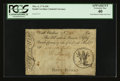 Colonial Notes:South Carolina, South Carolina March 6, 1776 £50 PCGS Apparent Extremely Fine40....