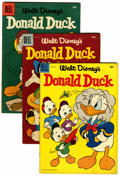 Golden Age (1938-1955):Cartoon Character, Donald Duck Group (Dell, 1955-61) Condition: Average VG/FN....(Total: 10 Comic Books)