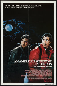 "An American Werewolf in London Lot (Universal, 1981). Autographed One Sheets (2) (27"" X 41"") and German A1 (23..."