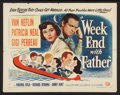 "Movie Posters:Comedy, Week End with Father (Universal International, 1951). Half Sheet(22"" X 28"") Style B. Comedy.. ..."