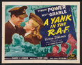 "Movie Posters:War, A Yank in the R.A.F. (20th Century Fox, R-1953). Half Sheet (22"" X28"") Style B. War.. ..."