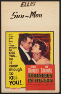 """Movie Posters:Thriller, Footsteps in the Fog (Columbia, 1955). Window Card (14"""" X 22"""").Thriller.. ..."""