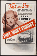 "Movie Posters:Mystery, They Won't Forget (Warner Brothers, R-1940s). One Sheet (27"" X40.5""). Mystery.. ..."