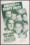 "Movie Posters:Crime, Angels with Dirty Faces (Dominant Pictures, R-1956). One Sheet (27""X 41""). Crime.. ..."