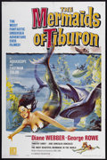 "Movie Posters:Fantasy, The Mermaids of Tiburon (Film Group, 1962). One Sheet (27"" X 41"").Fantasy.. ..."