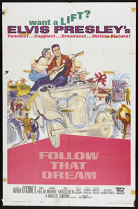 "Follow That Dream (United Artists, 1962). One Sheet (27"" X 41""). Elvis Presley"