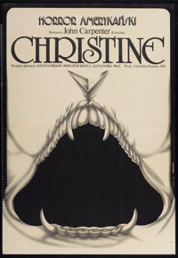 "Christine (Columbia, 1985). Polish One Sheet (26.5"" X 38.5""). Horror"