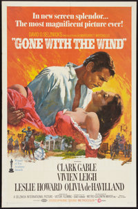 """Gone with the Wind (MGM, R-1968). One Sheet (27"""" X 41""""). Romance"""