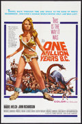 "Movie Posters:Fantasy, One Million Years B.C. (20th Century Fox, 1966). One Sheet (27"" X41""). Fantasy.. ..."