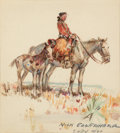 Western:20th Century, PROPERTY FROM THE DUFFY AND TINA OYSTER FOUNDATION. NICK EGGENHOFFER (American, 1895-1985). Portrait of an Indian. Wat...