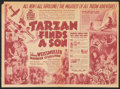 "Movie Posters:Adventure, Tarzan Finds a Son (MGM, 1939). Herald (11"" X 15.75""). Adventure....."
