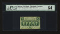 Fractional Currency:First Issue, Fr. 1312 50¢ First Issue PMG Choice Uncirculated 64....
