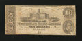Confederate Notes:1862 Issues, T52 PF-1IB Cr. 369IB $10 1862 Inverted Back.. ...