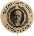 Political:Pinback Buttons (1896-present), Calvin Coolidge: One of the Rarest and Best Single-Portrait PinbackDesigns....