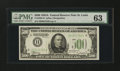 Small Size:Federal Reserve Notes, Fr. 2202-H $500 1934A Federal Reserve Note. PMG Choice Uncirculated 63.. ...