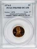 Proof Lincoln Cents: , 1974-S 1C PR69 Deep Cameo PCGS. PCGS Population (419/0). NGCCensus: (34/0). Numismedia Wsl. Price for problem free NGC/PC...